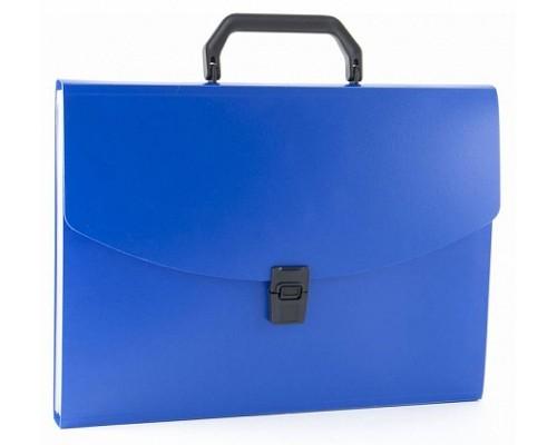 Кан.Портфель пластиковый А4 6 отд.Бюрократ 0.7мм ассорти